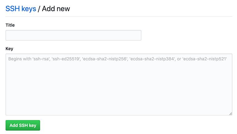 作成したSSH公開鍵をGitHubに登録する