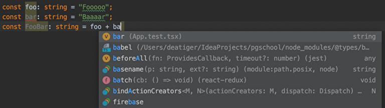 TypeScriptのメリット|強力な入力補完が使える